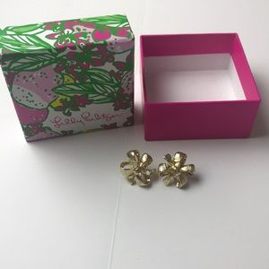 Lily Pulitzer bow earrings